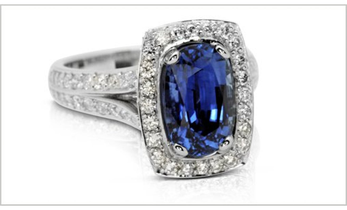 thumbnail for Platinum Sapphire diamond ring