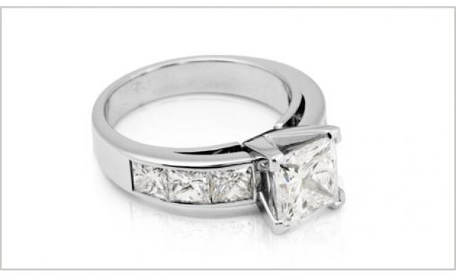 thumbnail for 2.00ct Princess cut diamond ring