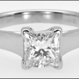 Princess 1.13ct Platinum solitaire ring