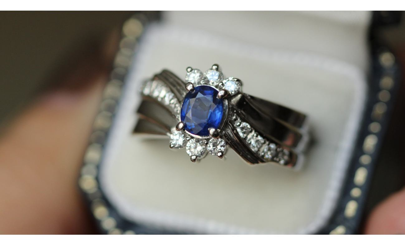 thumbnail for Antique sapphire ring