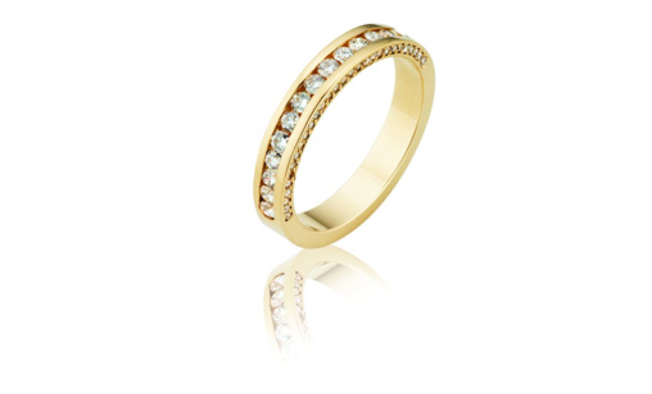 thumbnail for Diamond eternity ring channel set