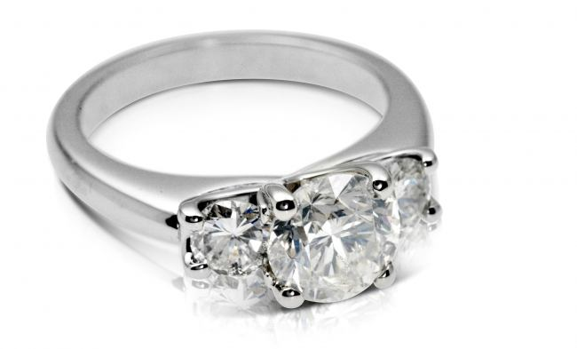 thumbnail for 2.0ct diamond Platinum three stone ring